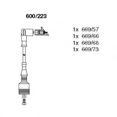 BREMI 600223 Комплект проводов зажигания