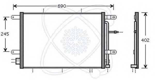 ELECTRO AUTO 30B0061 Конденсатор, кондиционер