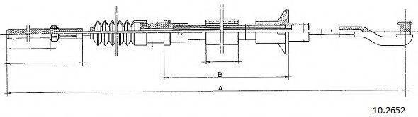 CABOR 102652 Трос, управление сцеплением