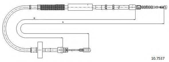 CABOR 107537 Трос, стояночная тормозная система