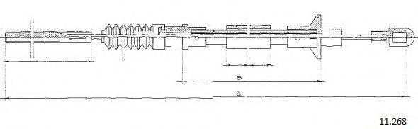 CABOR 11268 Трос, управление сцеплением