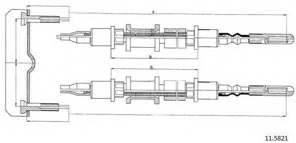 CABOR 115821 Трос, стояночная тормозная система