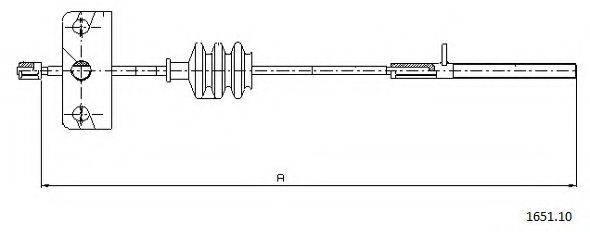 CABOR 165110 Трос, стояночная тормозная система
