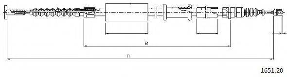 CABOR 165120 Трос, стояночная тормозная система