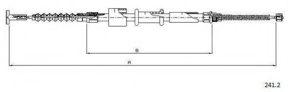 CABOR 2412 Трос, стояночная тормозная система