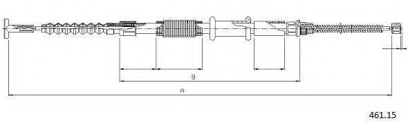 CABOR 46115 Трос, стояночная тормозная система