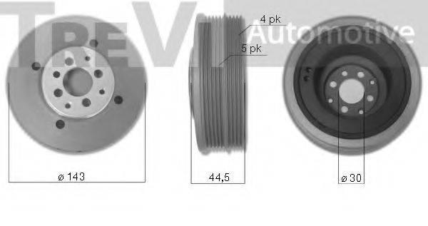 TREVI AUTOMOTIVE PC1028 Ременный шкив, коленчатый вал