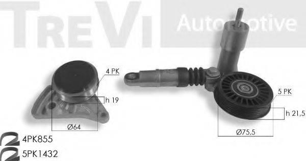 TREVI AUTOMOTIVE KA1153 Поликлиновой ременный комплект