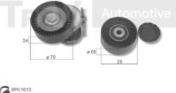 TREVI AUTOMOTIVE KA1210 Поликлиновой ременный комплект