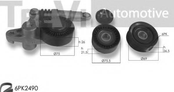 TREVI AUTOMOTIVE KA1211 Поликлиновой ременный комплект