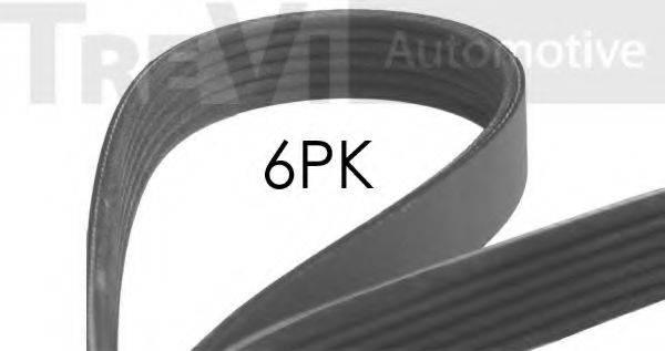 TREVI AUTOMOTIVE 6PK1613 Поликлиновой ремень