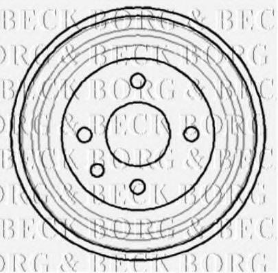 BORG & BECK BBR7040 Тормозной барабан