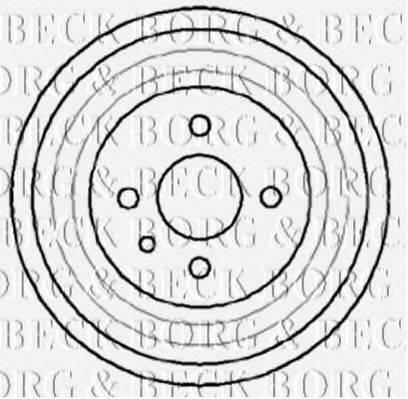 BORG & BECK BBR7041 Тормозной барабан