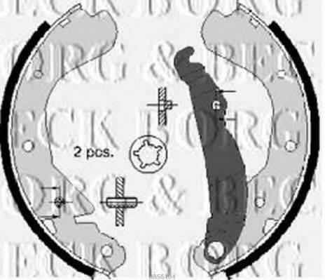 BORG & BECK BBS6104 Комплект тормозных колодок