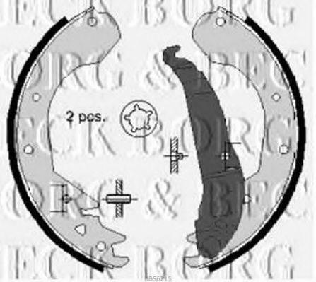 BORG & BECK BBS6215 Комплект тормозных колодок