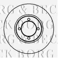 BORG & BECK BBD4860 Тормозной диск