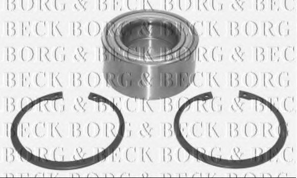 BORG & BECK BWK344 Комплект подшипника ступицы колеса