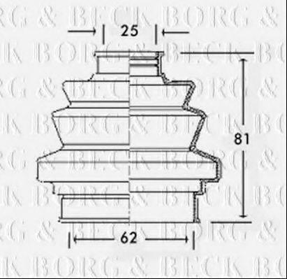 BORG & BECK BCB2196 Пыльник, приводной вал