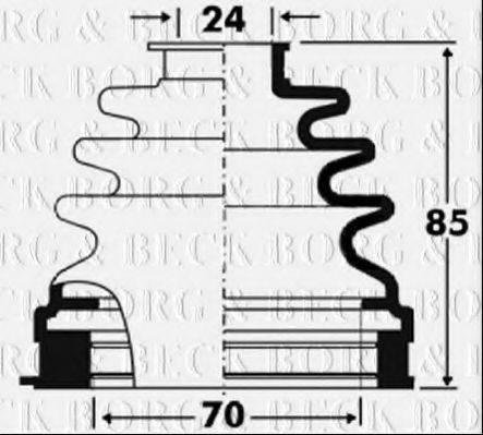BORG & BECK BCB2881 Пыльник, приводной вал