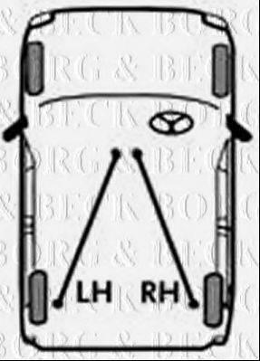 BORG & BECK BKB2768 Трос, стояночная тормозная система