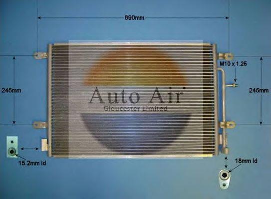 AUTO AIR GLOUCESTER 169701 Конденсатор, кондиционер