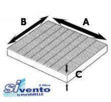 SIVENTO G102 Фильтр, воздух во внутренном пространстве