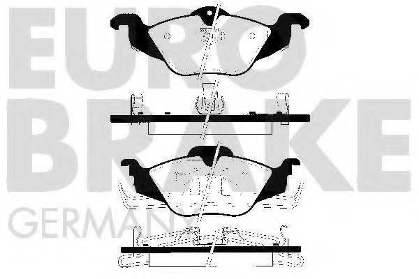 EUROBRAKE 5502223618 Комплект тормозных колодок, дисковый тормоз