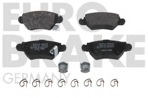EUROBRAKE 5502223619 Комплект тормозных колодок, дисковый тормоз
