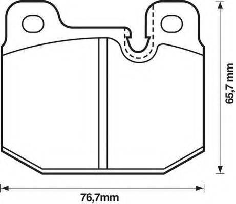 JURID 571271D Комплект тормозных колодок, дисковый тормоз