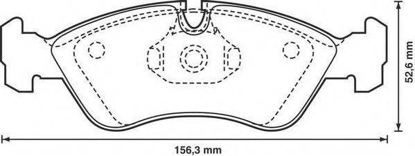 JURID 571391D Комплект тормозных колодок, дисковый тормоз