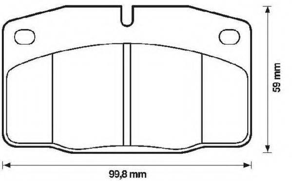 JURID 571276J Комплект тормозных колодок, дисковый тормоз