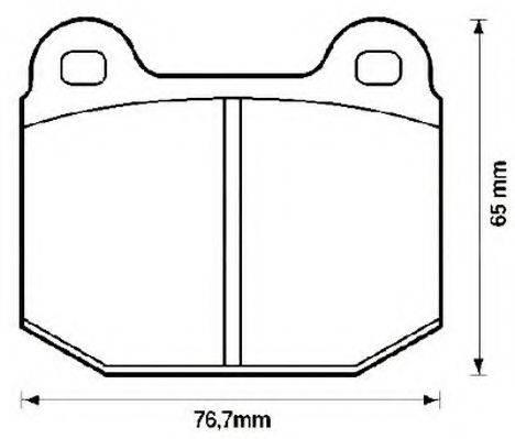 JURID 571543J Комплект тормозных колодок, дисковый тормоз