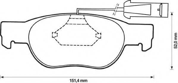 JURID 571882J Комплект тормозных колодок, дисковый тормоз