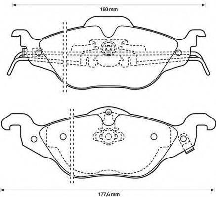 JURID 571968J Комплект тормозных колодок, дисковый тормоз