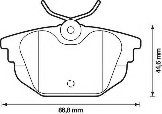JURID 571979J Комплект тормозных колодок, дисковый тормоз