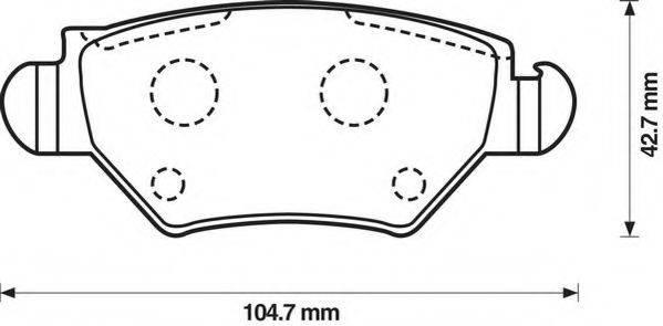 JURID 573010J Комплект тормозных колодок, дисковый тормоз