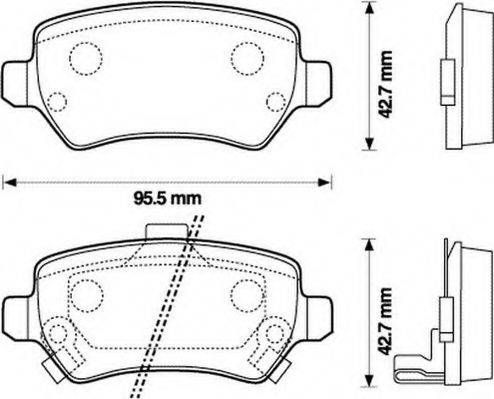 JURID 573122J Комплект тормозных колодок, дисковый тормоз