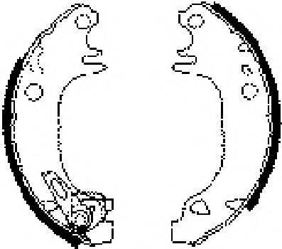 JURID 362249J Комплект тормозных колодок