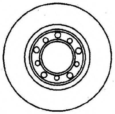 JURID 561166J Тормозной диск
