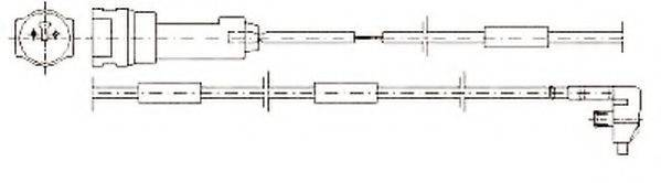 JURID 581307 Сигнализатор, износ тормозных колодок
