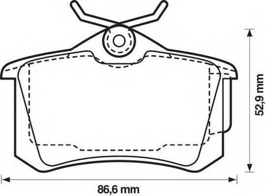 JURID 573005JC Комплект тормозных колодок, дисковый тормоз
