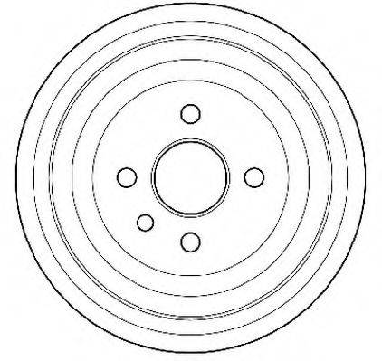 JURID 329204J Тормозной барабан
