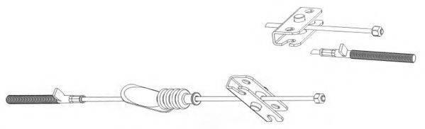 JURID 432800J Трос, стояночная тормозная система