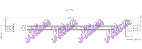 BROVEX-NELSON H1674 Тормозной шланг