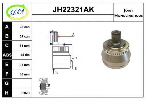 SERA JH22321AK Шарнирный комплект, приводной вал