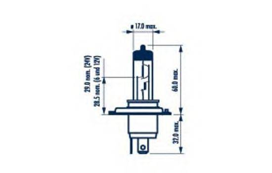 NARVA 48889 Лампа накаливания, фара дальнего света; Лампа накаливания, основная фара; Лампа накаливания, противотуманная фара; Лампа накаливания, основная фара; Лампа накаливания, фара дальнего света; Лампа накаливания, противотуманная фара