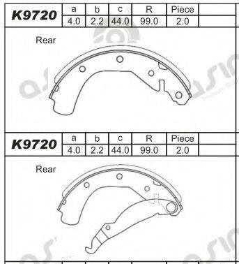 ASIMCO K9720 Комплект тормозных колодок