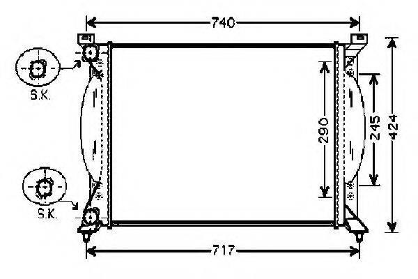 ORDONEZ 2061063 Радиатор, охлаждение двигателя