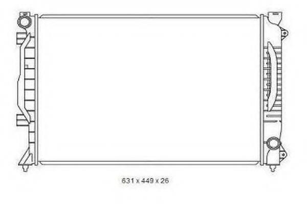 ORDONEZ 2065061 Радиатор, охлаждение двигателя