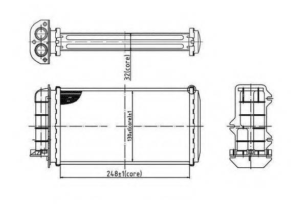 ORDONEZ 2066903 Теплообменник, отопление салона